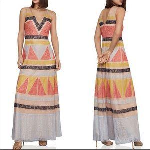 NWT BCBGMAXAZRIA geometric maxi dress
